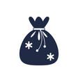 christmas gift bag isolated icon vector image