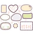 doodle floral frame set vector image