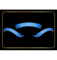 Ribbon banners set original blue black vector image