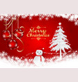 snow flake and ball on red background for vector image