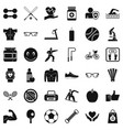 stopwatch icons set simple style vector image
