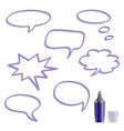 Set of speech bubbles on white background vector image