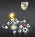 Silver Robot Metal Robot vector image