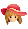 A girl wearing a red hat vector image vector image