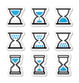 Hourglass sandglass icon set vector image vector image