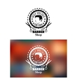 Barber shop emblem or sign vector image vector image