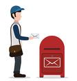 Delivery postman design vector image