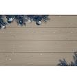 Winter wooden background vector image vector image