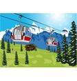 ski lift cable booth or car vector image