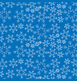 blue snowflake winter decoration seamless vector image