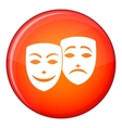 Carnival mask icon flat style vector image