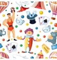 Circus entertainment seamless pattern Flat style vector image