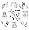 crime story vector image