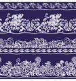 Design border webbing lace seamless pattern vector image