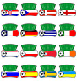 euro 2012 fantasy shields vector image
