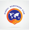 Global handshake abstract sign vector image