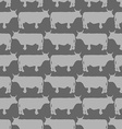 Grey cows graze seamless pattern background of vector image