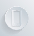 paper circle flat icon smartphone vector image
