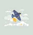 postage pigeon character vector image