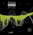 Splattered web design element art ink blob bright vector image