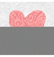 Valentine background wiht ornate heart vector image