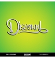 DISCOUNT Lettering vector image vector image