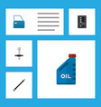 flat auto set of pipeline muffler automobile vector image