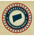 Vintage label Connecticut vector image