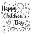 happy childrens day doodle style vector image