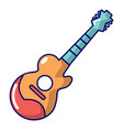 acoustic guitar icon cartoon style vector image