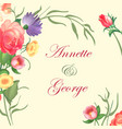 a vintage frame on floral vector image
