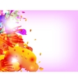 Abstract hand made watercolor splashes vector image