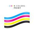 CMYK print color vector image