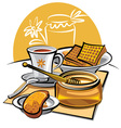 honey and tea vector image