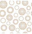 Pattern of Stylized Copper Wire Circles vector image