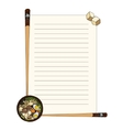 Cute menu for japanese food restaurant vector image