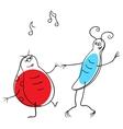 Dancing bugs vector image vector image