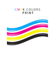 CMYK print color vector image