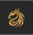 dragon logo design template vector image