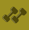 flat icon on stylish background dumbbells vector image