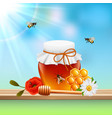 honey colored composition vector image