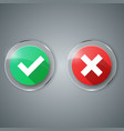 ok yes no glass icon vector image