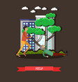 outside help concept in flat vector image