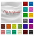 Colorful satin or silk background set vector image