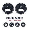 hotel sign icon rest place sleeper symbol vector image