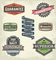 Vintage Signs and Banners and Frames vector image