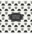 seamless retro pattern with vintage hipster vector image