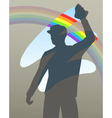 Rainbow wipe vector image