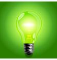 Green light bulb vector image vector image