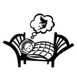 Girl sleeping simple icon vector image
